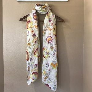LOFT OS Butterfly Floral Scarf